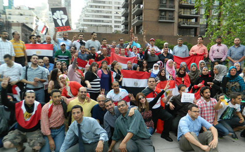 الجالية المصرية بنيويورك تنتج فيديو عن حفاوة استقبالهم للرئيس السيسى