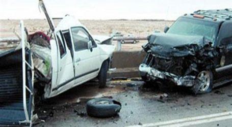مصرع وإصابة 4 أشخاص في حادث تصادم أعلى كوبرى أكتوبر
