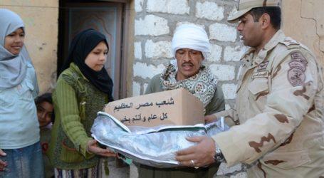 القوات المسلحة توزع مليون ونصف حصة غذائية اضافية بالمحافظات مع حلول عيد الاضحي