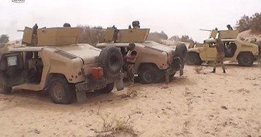 """القوات المسلحة تعرض فيديو اليوم الحادى عشر من عملية """"حق الشهيد"""" بسيناء"""