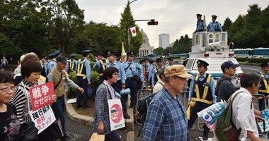 احتجاجات أمام برلمان اليابان على قانون يسمح للجيش بالتحرك خارج البلاد