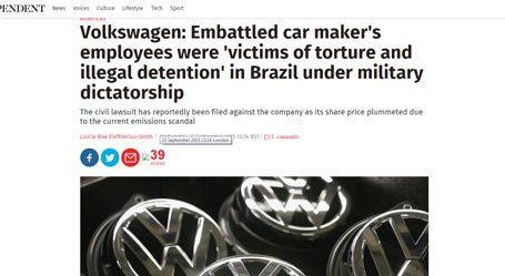 الإندبندنت: دعوى قضائية ضد شركة فولكس فاجن تتهمها بفشلها فى حماية موظفيها من التعذيب فى البرازيل