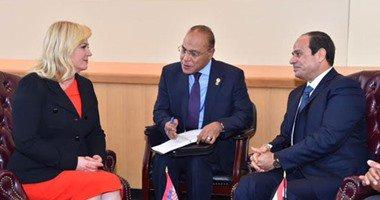 رئيسة كرواتيا لـ السيسى : نحتاج أن نعمل سويا لمكافحة خطر الإرهاب