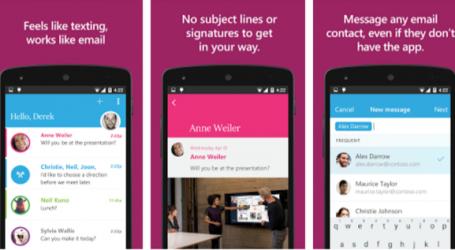 مايكروسوفت تُطلق تطبيق البريد الإلكتروني المُتنكّر بشكل تطبيق للدردشة Send