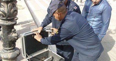 خبراء المفرقعات ينجحون فى إبطال مفعول قنبلة شديدة الانفجار بالمهندسين