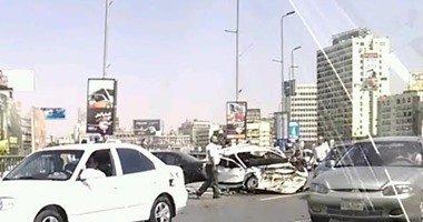 توقف حركة المرور داخل نفق الميرغنى بسبب تصادم 4 سيارات