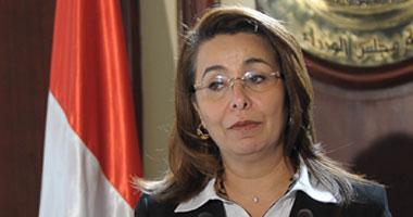 وزيرة التضامن تدلى بصوتها بمدرسة الأورمان الإعدادية بدائرة العجوزة