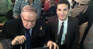 أحمد فتحى سرور رئيس مجلس الشعب الأسبق يترافع فى قضية قتل بمحكمة المحلة