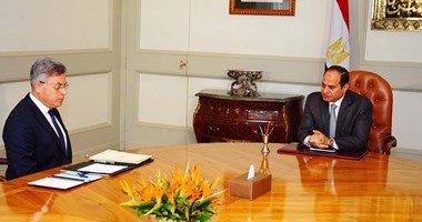 """السيسى يستعرض مع رئيس""""الرقابة الإدارية"""" سبل مكافحة الفساد والتصدى له"""