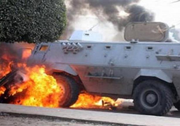 إصابة مجندان إثر انفجار عبوة ناسفة في مدرعة بالشيخ زويد