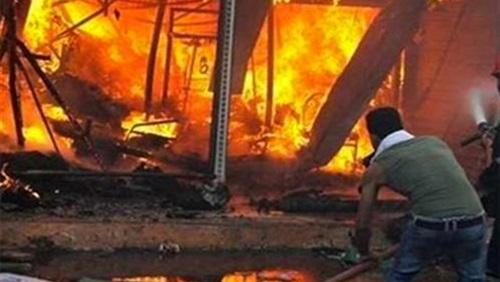 مصرع وإصابة 19 شخصًا من قرية «الغنايم» بأسيوط في حريق جمرك الأردن