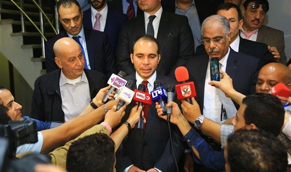 شقيق ملك الأردن يغادر القاهرة بعد الترويج لترشحه لرئاسة فيفا