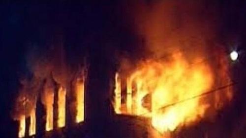 اندلاع حريق هائل في فندق برمسيس