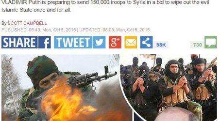 """صحيفة """"اكسبريس"""" البريطانية موسكو تستعد لإرسال 150 ألف جندي للقضاء على """"داعش"""" بسوريا"""