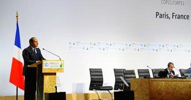 السيسى يلقى كلمة نيابة عن أفريقيا بقمة المناخ فى باريس