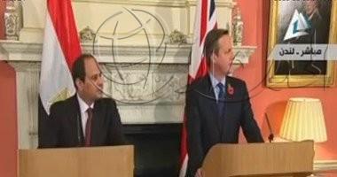 بالفيديو .. المؤتمر الصحفي الكامل للرئيس السيسي ورئيس الوزراء البريطاني ديفيد كاميرون