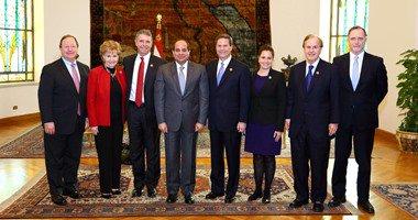 وفد الكونجرس الأمريكى يغادر القاهرة بعد زيارة التقى خلالها الرئيس السيسى