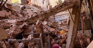 ارتفاع عدد ضحايا حادث انهيار منزلين بالفيوم لـ11 قتيلا و24 مصاباً