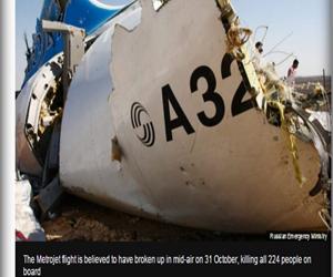 موقع قناة ( بي بي سي ) البريطانية : السلطات المصرية تفتح تحقيقاً في مزاعم أن قنبلة وراء تحطم الطائرة الروسية