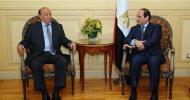 السيسى يلتقى نظيره اليمنى فى الرياض لبحث آخر التطورات على الساحة اليمنية
