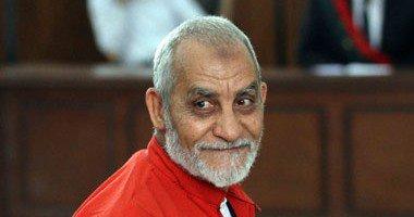 تأجيل محاكمة بديع و104 متهمين من الإخوان لـ7و8 ديسمبر فى أحداث الإسماعيلية