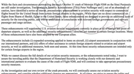 واشنطن تقرر تشديد إجراءات الأمن على الطائرات القادمة من الشرق الأوسط