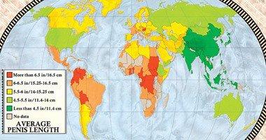 ديلى ميل تكشف خريطة العالم للأعضاء التناسلية للرجال.. مصر بالمستوى الثانى