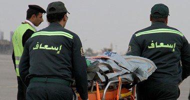 رجال إسعاف شمال سيناء يرتدون أكياس الموتى فى وقفة احتجاجية بالعريش