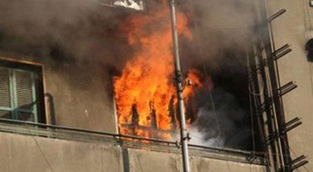 اشتعال النيران بإحدى عمارات شارع هدى شعراوي في وسط القاهرة
