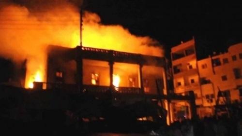 حريق هائل يدمر 19 منزلًا في سوهاج