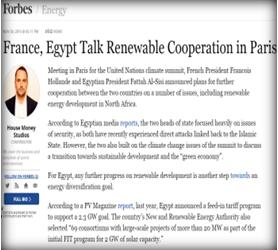 مجلة (فوربس) الأمريكية : محادثات بين فرنسا و مصر لتجديد التعاون بين البلدين