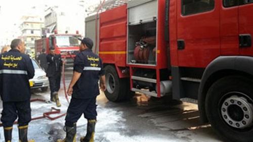 قوات الحماية المدنية - حريق سوق العبور
