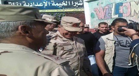 قائد المنطقة المركزية يتفقد لجان مصر الجديدة