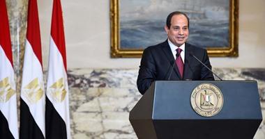 الرئيس السيسى: توفير فرص عمل لأبناء سيناء لمكافحة