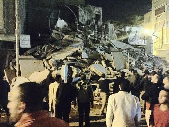 انهيار عقار في «البيطاش» بالإسكندرية دون إصابات