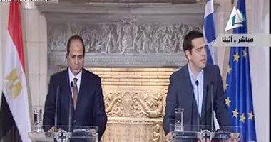 نص كلمة السيسي في مقر الحكومة اليونانية