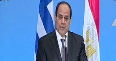 السيسى يشهد توقيع 3 اتفاقيات بمنتدى الأعمال المصرى اليونانى