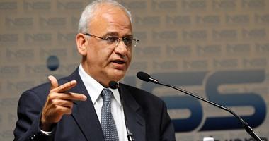 عريقات يوجه الشكر لمصر على الجهود فى وقف الحرب الإسرائيلية على غزة