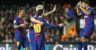 فيديو.. برشلونة يتخطى فالنسيا بثنائية ويواجه إشبيلية بنهائى كأس إسبانيا