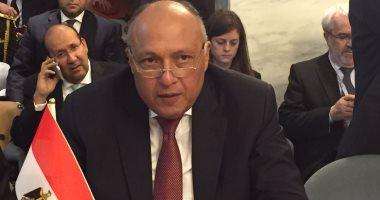 """وزير الخارجية الأمريكية لـ""""شكرى"""":نثمن جهود مصر لتحقيق المصالحة الفلسطينية"""