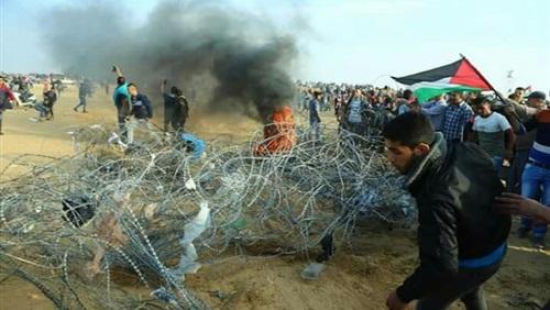 """"""" برصاص الاحتلال """" إصابة 20 فلسطينيا في المسيرة البحرية الـ13"""