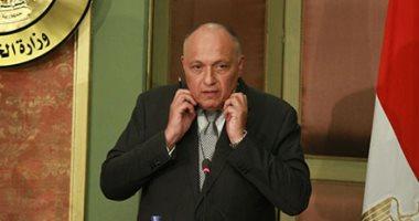 وزير الخارجية يؤكد على دعم مصر الكامل للحل السياسى للأزمة السورية