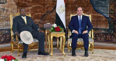 رئيس أوغندا يغادر القاهرة عقب لقاء الرئيس السيسي