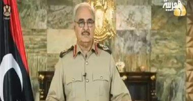 """"""" خليفة حفتر """" يلتقى قادة المناطق العسكرية فى ليبيا"""