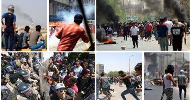 عشرات القتلى والجرحى خلال اشتباكات المتظاهرين مع قوات الأمن بالعراق