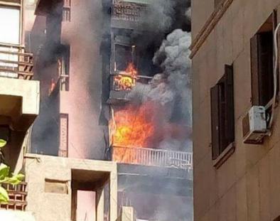 الحماية المدينة تسيطر على حريق مستشفى الحسين