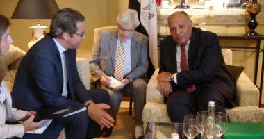 وزير الخارجية يلتقى وزير النقل والبنية الرقمية الألمانى