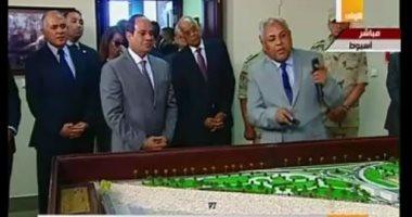 الرئيس السيسي يستمع لشرح تفصيلى عن مشروع قناطر أسيوط الجديدة