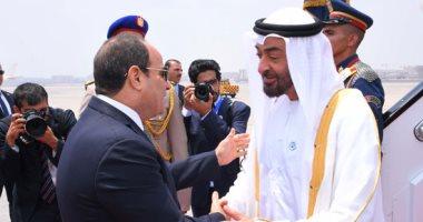 ولي عهد أبو ظبي يغادر القاهرة بعد لقاء الرئيس السيسي