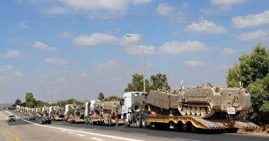 جيش الاحتلال الإسرائيلى يدفع بتعزيزات عسكرية كبيرة على حدود غزة